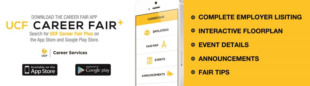 UCF Career Fair Plus, an app to help students navigate the Career Expo