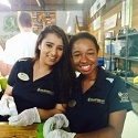 Two girls volunteering with Volunteer UCF